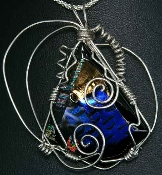 Dichroic Necklace-Black